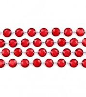 Kristallgirlande - dunkelrot - 1 m