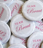 """Team Braut""-Button"