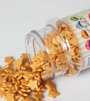 Funcakes Zuckersterne - perlmutt gold - 60 g