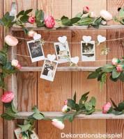 "Kunstblumen-Girlande ""Rosen"" - rosa/pink -  2 m"
