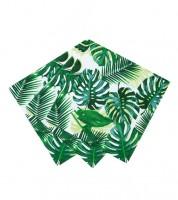 """Cocktail-Servietten """"Tropical Fiesta"""" - Palmblätter - 20 Stück"""