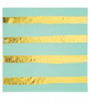 Servietten - fresh mint/gold - 16 Stück