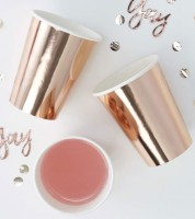 "Pappbecher ""Pick and Mix"" - Rosegold - 8 Stück"