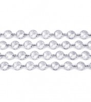Kristallgirlande - klar - 1 m