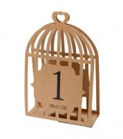 Vogelkäfig-Tischnummern 1 bis 15 - Kraftpapier