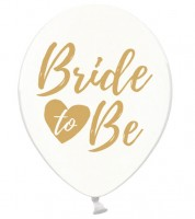 "Luftballons ""Bride to Be"" - kristall/gold - 6 Stück"