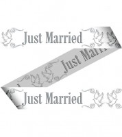 "Absperrband ""Just Married - Tauben"" - 15 m"