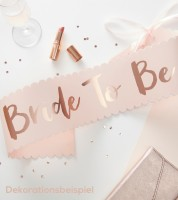 "Bride to be Schärpe ""Team Bride"" - rosa/gold"