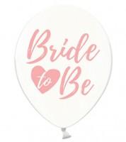 "Luftballons ""Bride to Be"" - kristall/rosa - 6 Stück"