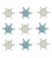 """Zuckerdekor """"Kleine Eiskristalle"""" - 9 Stück"""