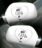 """Autobikini """"Mr & Mrs"""" - weiß - 2 Stück"""