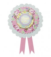 "Bride to be Rosette ""Truly Scrumptious"""