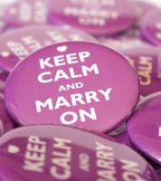 """Button """"Keep Calm and Marry On"""" - 56 mm"""