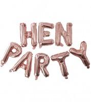 "Folienballon-Girlande ""Hen Party"" - rosegold - 2,5 m"