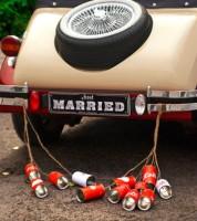 """Blech-Dosen für das Hochzeitsauto """"Retro Style"""" - 5-teilig"""