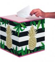 """Kartenbox """"Goldene Ananas"""" - 30,5 x 30,5 cm"""
