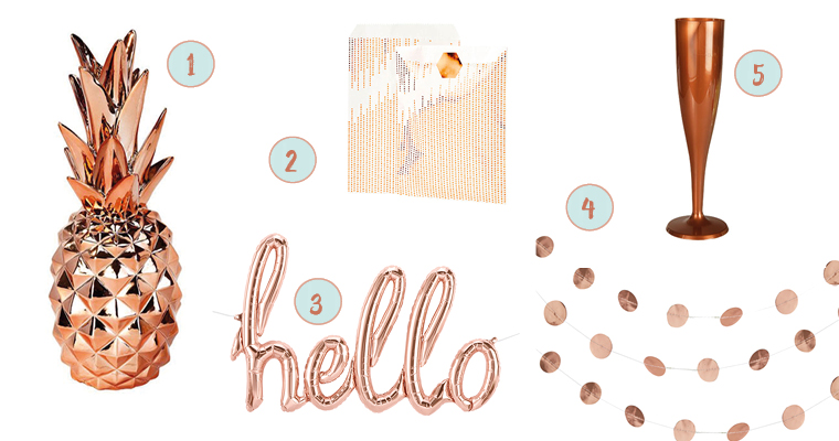 Neuen kommentar schreiben my bridal shower blog for Rosegold deko