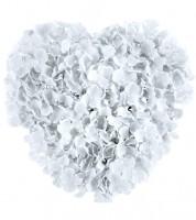 Blumenherz - weiß - 41 cm