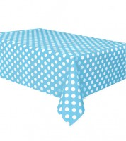 "Kunststoff-Tischdecke ""Big Dots"" - Powder Blue - 137 x 274 cm"