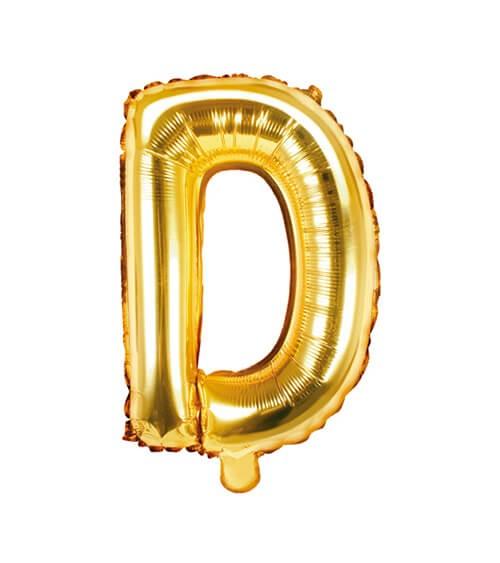 """Folienballon Buchstabe """"D"""" - gold - 35 cm"""