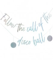 "Schriftzuggirlande ""Follow the Call"" - irisierend - 2,5 m"