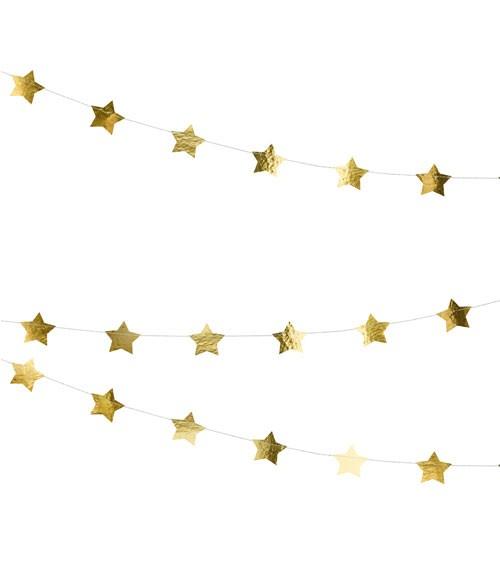 Stern-Girlande - metallic gold - 3,6 m