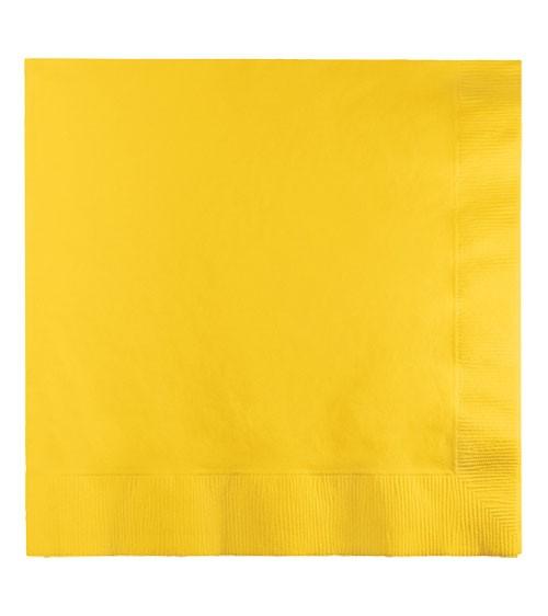 Servietten - school bus yellow - 50 Stück