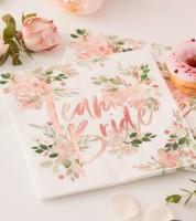 """Team Bride Servietten """"Florale Brautparty"""" - 16 Stück"""