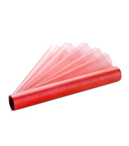 Organza-Tischläufer - rot - 36 cm x 9 m