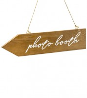 "Wegweiser aus Holz ""Photo booth"" - 36 x 7,5 cm"