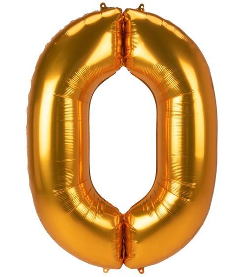 "JumboShape-Folienballon Zahl ""0"" - gold - 93 x 134 cm"