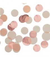 """Seidenpapier-Konfetti """"Kreise"""" - rosegold - 2,5 cm - 15 g"""