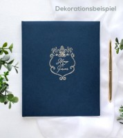 "Gästebuch ""Always & Forever"" - navy blue/gold"