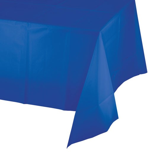 Kunststoff-Tischdecke - kobaltblau - 137 x 274 cm