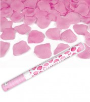 Konfetti-Kanone mit Rosenblättern - pink - 60 cm
