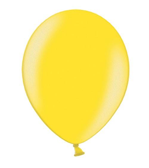 Metallic-Luftballons - limonengelb - 50 Stück