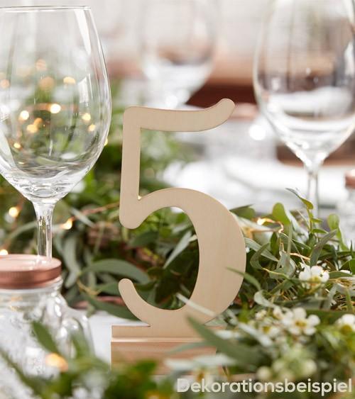 Tischnummern aus Holz - 1-12