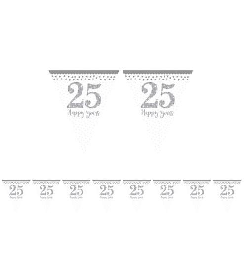 "Wimpelgirlande ""25 Happy Years"" - 4 m"