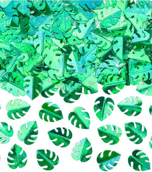 "Metallic-Konfetti ""Tropenblätter"" - grün - 15 g"