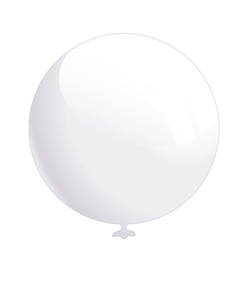 Rundballons - transparent - 50 cm - 6 Stück