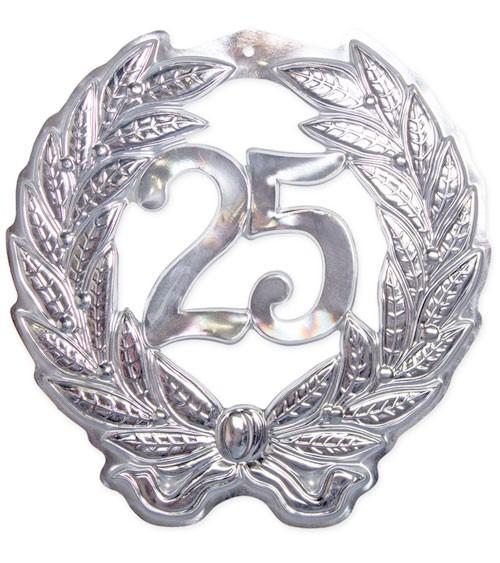 "Wanddekoration ""25"" - silber - 43 cm"