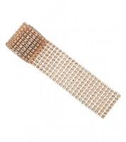 Diamanten-Strassband - rosegold - 4 cm x 1,5 m