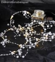 """LED-Lichterkette """"Tautropfen mit weißen Perlen"""" - 1,9 m"""