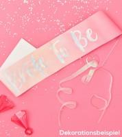 Bride to be Schärpe - pink/irisierend