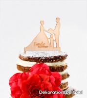 """Dein Cake-Topper """"Hochzeit - Familie"""" aus Holz - Wunschtext"""