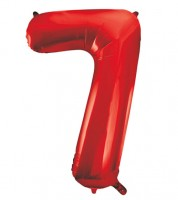 "Supershape-Folienballon ""7"" - rot - 86 cm"