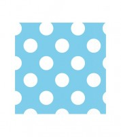 "Cocktail-Servietten ""Big Dots"" - Powder Blue - 16 Stück"