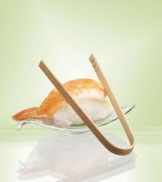 Fingerfood-Zangen aus Bambus - 10 cm - 10 Stück