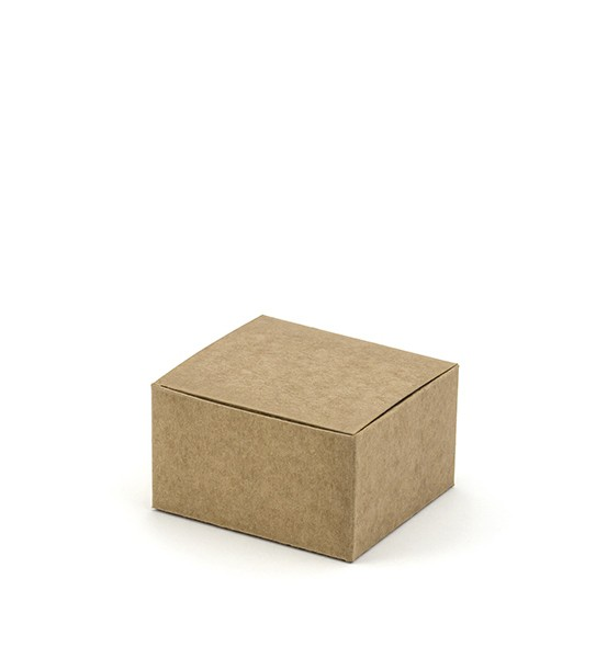 Kraftpapier-Geschenkschachteln - 6,5 x 5 cm - 10 Stück