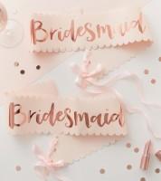 Bridesmaid Schärpen - rosegold - 2 Stück